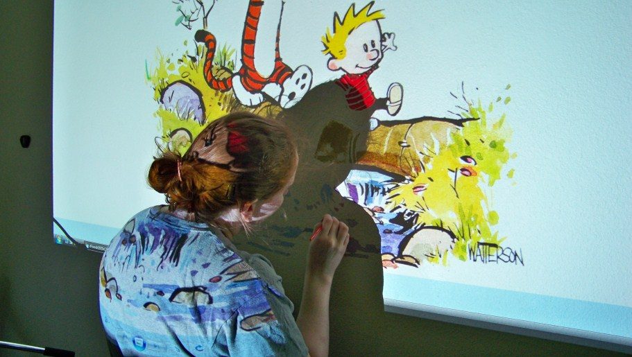 Archive june dear cyrus for Calvin and hobbes nursery mural